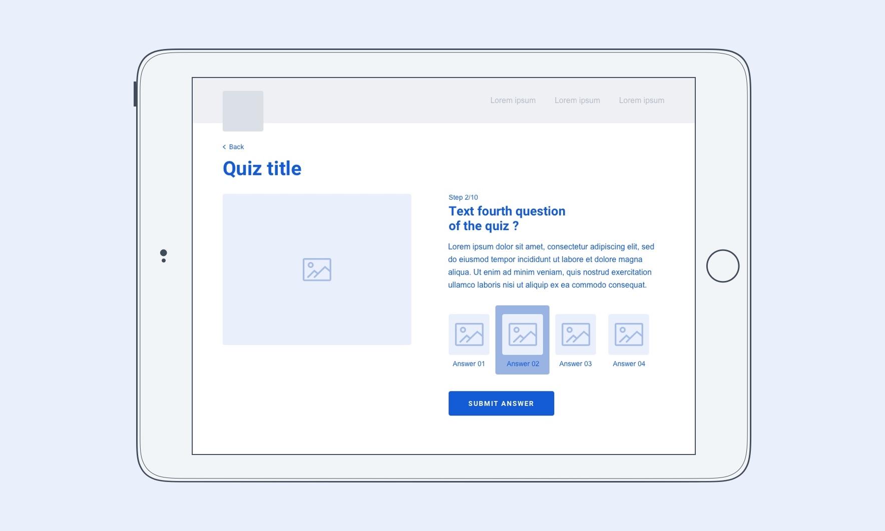 Erebor nestlé component ipad quiz
